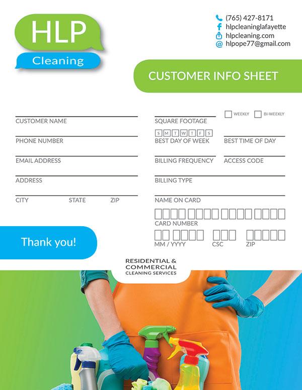 Brochure Design - HLP Cleaning