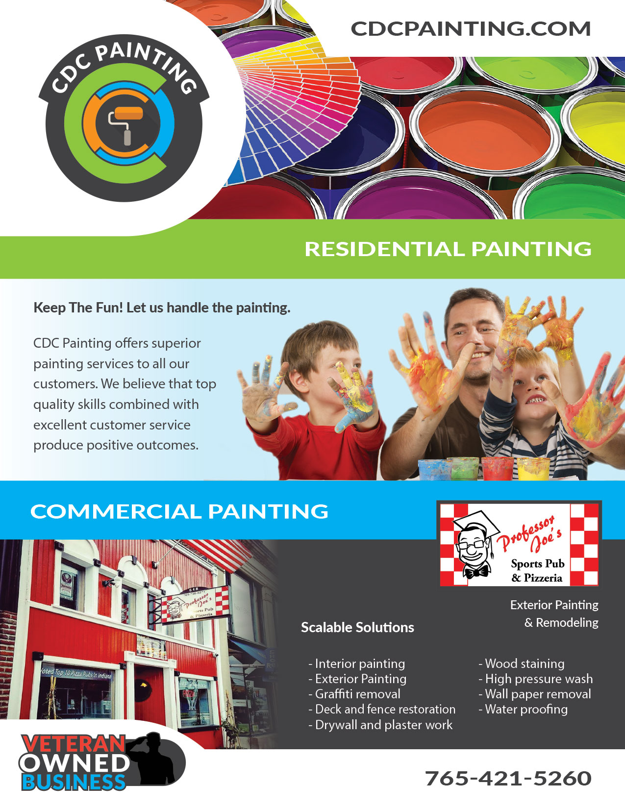 Brochure Design - CDC Painting